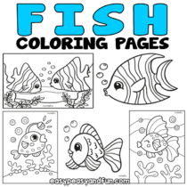 Fish Coloring Pages – 30 Printable Sheets