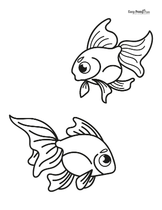 Tropical Fish Coloring Page