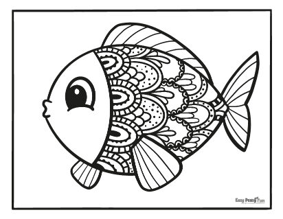 Intricate Fish Coloring Page