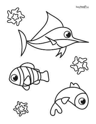 Sea Friends Coloring Sheet