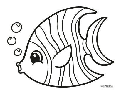 Easy Fish Coloring Pages