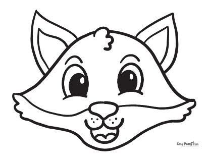 Simple Fox Coloring Sheet