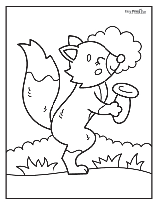 Fox With a Mushroom