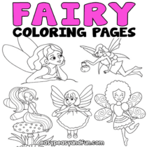 Fairy Coloring Pages – 30 Printable Sheets