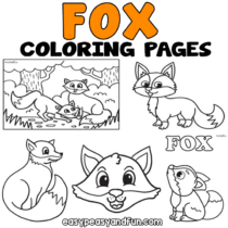 Fox Coloring Pages – 30 Printable Sheets