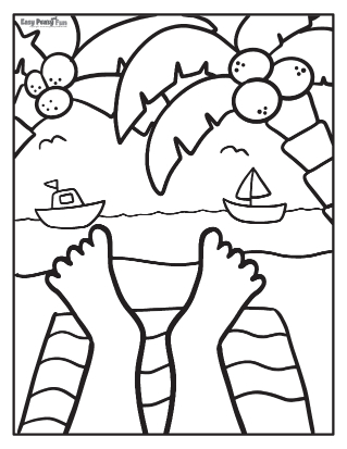 Easy Summer Coloring Pages