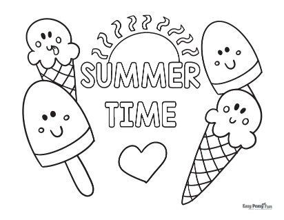 Summer Time Coloring sheet