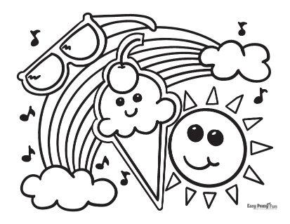 Summer Joy Coloring Page