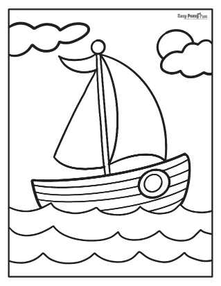 Sailboat Summer Coloring Pages