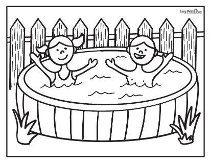 Enjoying in the Pool