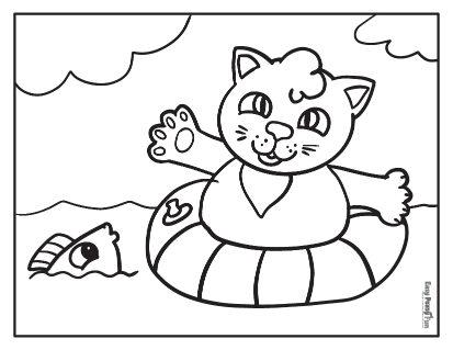 Swimming Cat