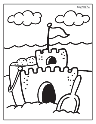 Sand Castle Coloring Sheet