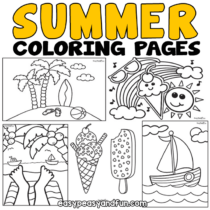 Printable Summer Coloring Pages – 30 Designs