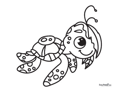 Curious Turtle Coloring Sheet
