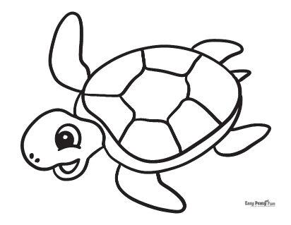 Turtle Coloring Sheet