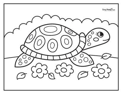 Big Tortoise Coloring Sheet