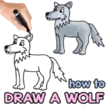 Guide de dessin dirigé par le loup