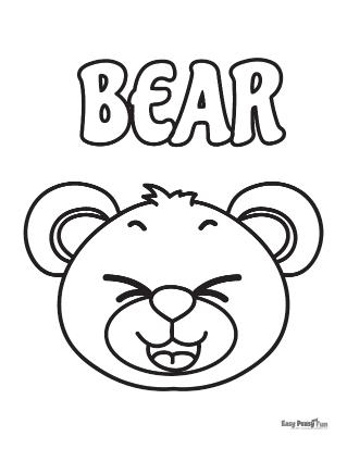 Ours à colorier