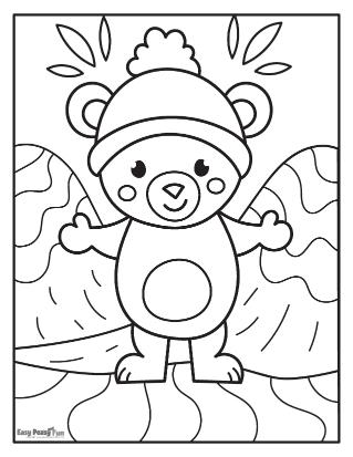 Animal de la forêt heureux