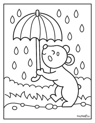 Sous parapluie