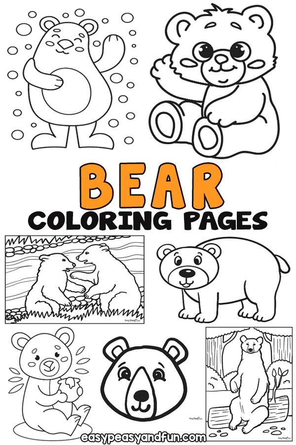 Coloriages à imprimer d'ours