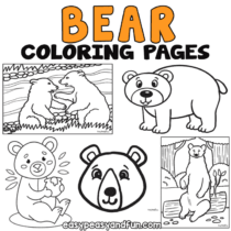 Bear Coloring Pages – 30 Printable Sheets