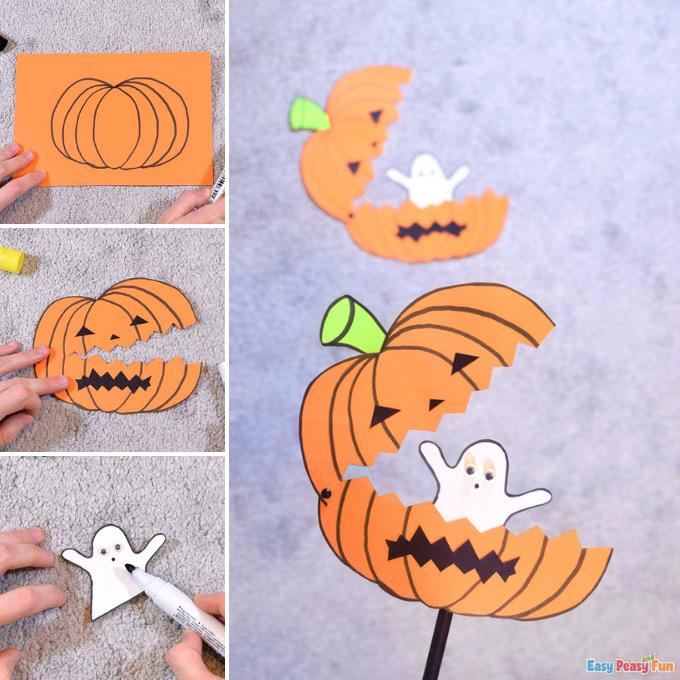Ghost in a Pumpkin Craft Idea