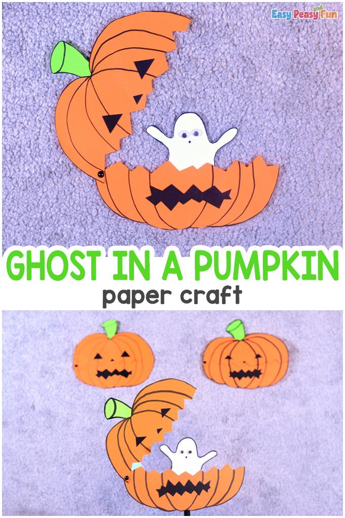 Ghost in a Pumpkin Craft