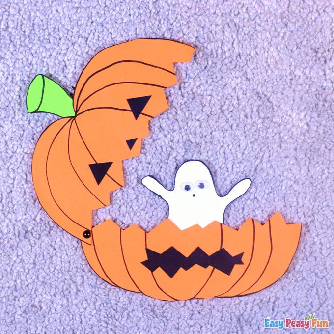 Halloween Ghost in Pumpkin Craft