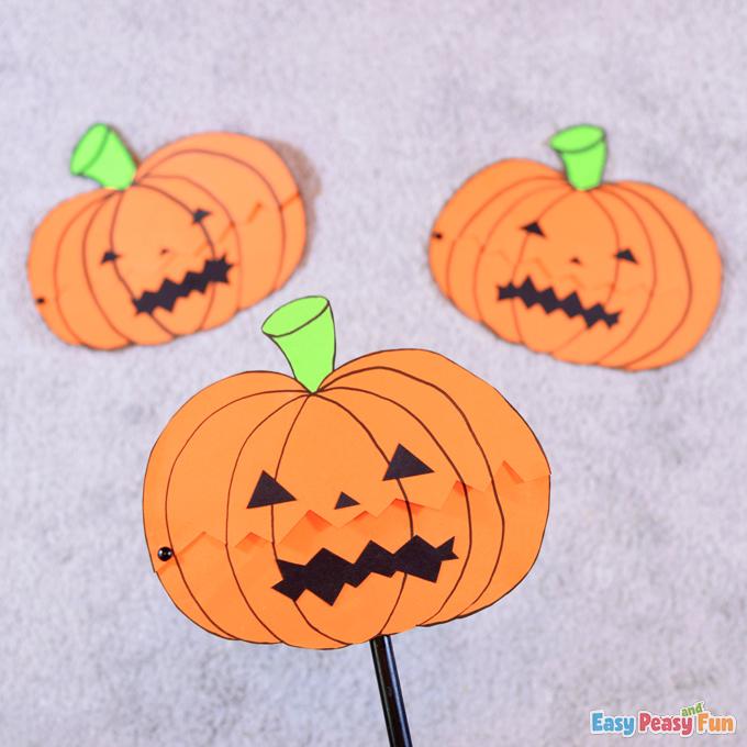 Halloween Ghost in a Pumpkin Paper Craft