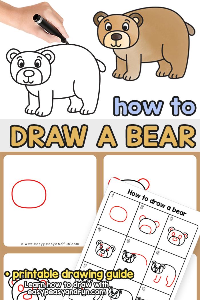 Comment dessiner un ours tutoriel étape par étape