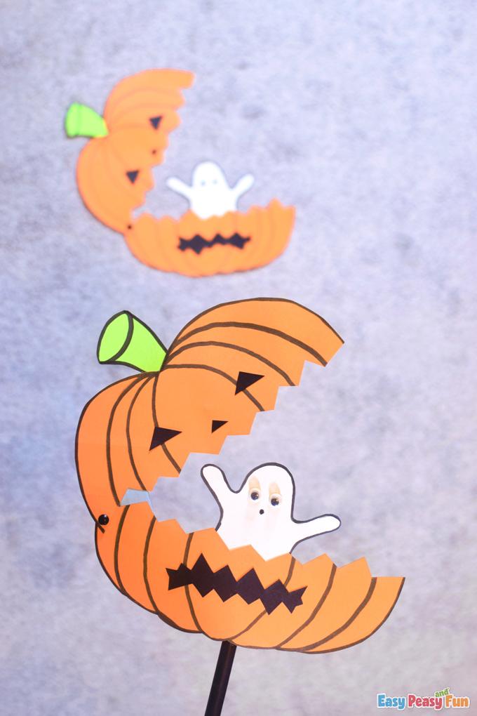 Paper Pumpkin Halloween Craft