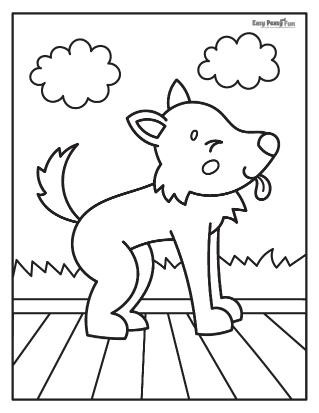 Bébé loup montrant la langue