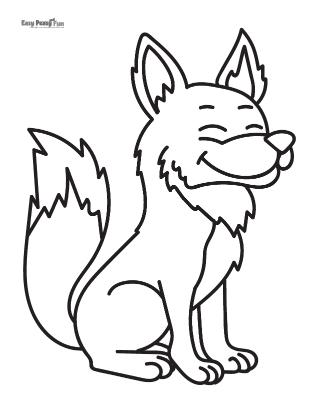 Loup souriant