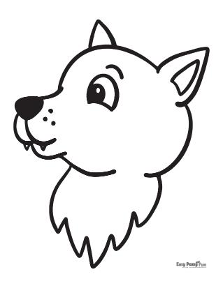 Coloriage bébé loup