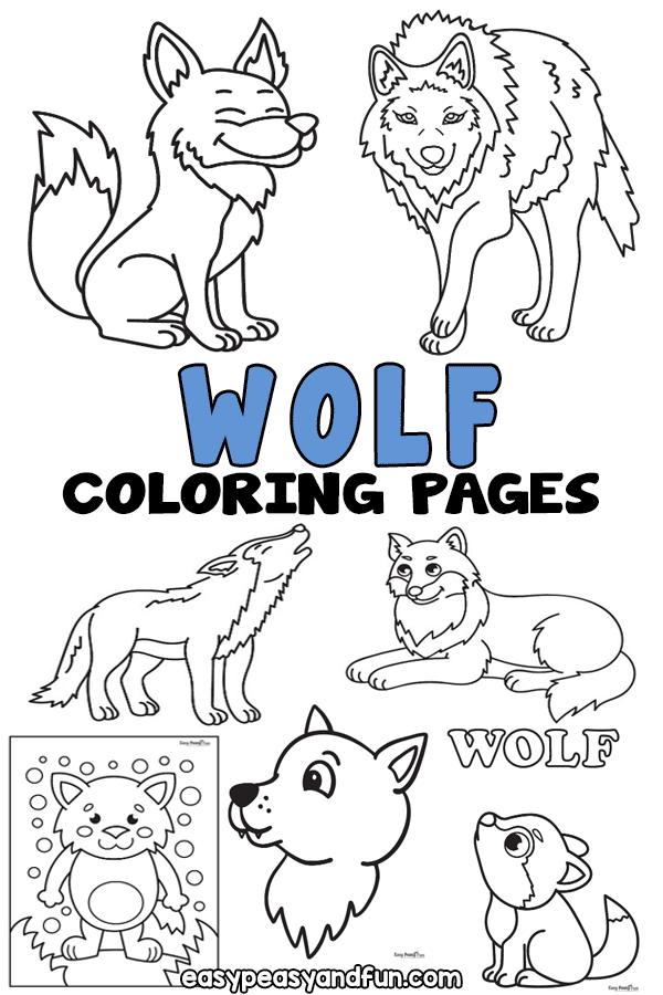 Coloriages de loups à imprimer