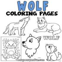 Wolf Coloring Pages – 30 Printable Sheets