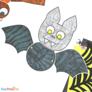Movable Paper Halloween Bat Craft