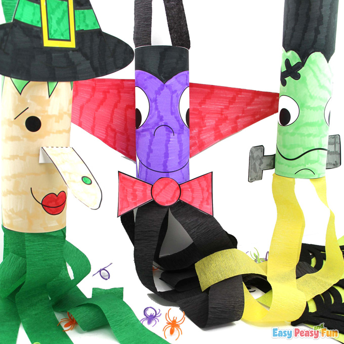 Paper Halloween Windsocks