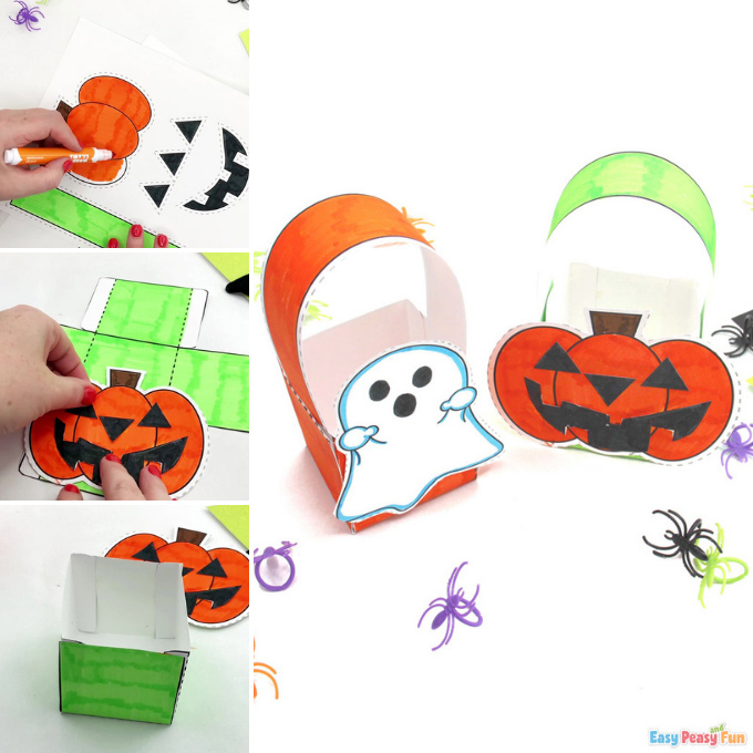 Printable Halloween Treat Boxes Idea