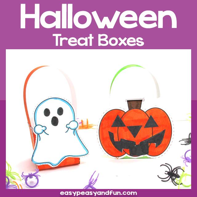 Printable Halloween Treat Boxes Template